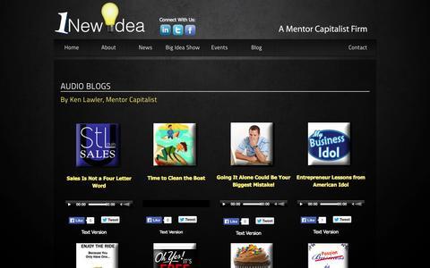 Screenshot of Blog 1newidea.com - Blog - captured Oct. 7, 2014