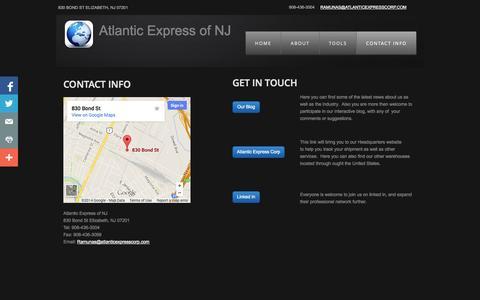 Screenshot of Privacy Page atlanticexpressofnj.com - Shipping Info   Atlantic Express of NJ - captured Sept. 30, 2014