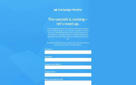 Screenshot of Landing Page campaignmonitor.com captured Dec. 11, 2016
