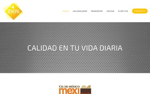 Screenshot of Home Page laideal.com.mx - LA IDEAL S.A. de C.V. - captured July 10, 2016