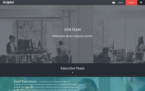 Screenshot of Team Page scripted.com - The Scripted Team | Scripted - captured Dec. 17, 2014