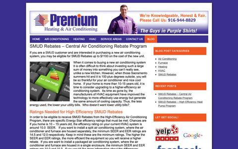 Screenshot of Blog premiumairconditioningandheating.com - Premium Air Conditioning and Heating Blog | Latest Information - captured Sept. 29, 2018