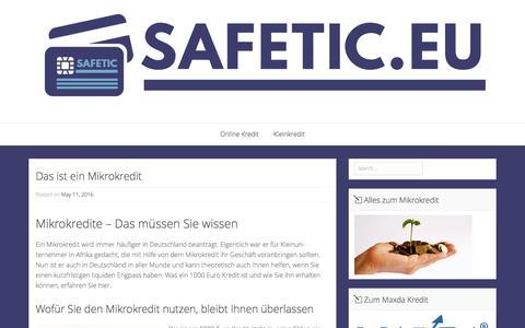Screenshot of Home Page safetic.eu - Die besten Online Kredite - captured Nov. 17, 2016