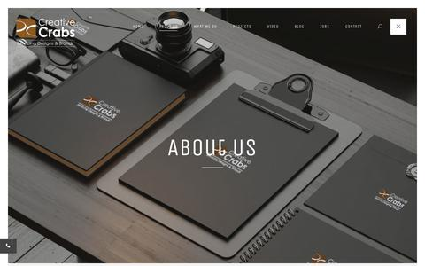 Screenshot of About Page creativecrabs.com - About Us | Advertising & Branding Agency India | Ahmedabad - captured Sept. 29, 2018