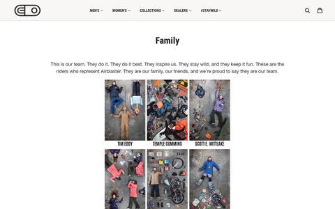 Screenshot of Team Page myairblaster.com - Airblaster Team - captured Oct. 7, 2017