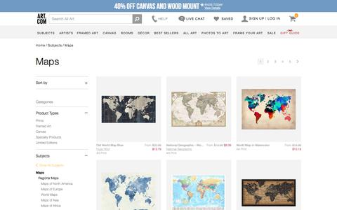 Maps, Posters and Prints at Art.com