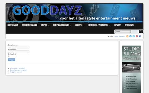 Screenshot of Login Page gooddayz.nl - Gooddayz - captured Nov. 4, 2014