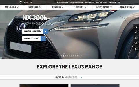 Luxury & Hybrid Cars | Lexus UK