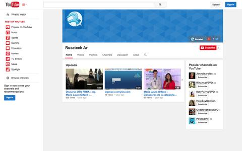 Screenshot of YouTube Page youtube.com - Rucatech Ar  - YouTube - captured Nov. 4, 2014