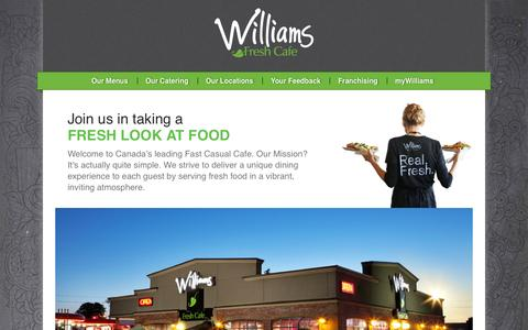 Screenshot of About Page williamsfreshcafe.com - About Williams Fresh Cafe - Williams Fresh Cafe - captured Nov. 13, 2015