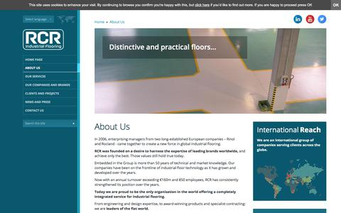 Screenshot of About Page rcrindustrialflooring.com - About RCR Industrial Flooring | Industrial Flooring Solutions - captured Nov. 14, 2017