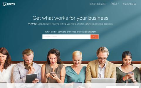 Screenshot of Home Page g2crowd.com - Business Software and Services Reviews | G2 Crowd - captured Feb. 5, 2017