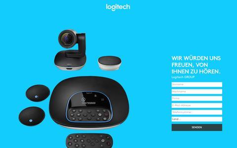 Screenshot of Landing Page logitech.com - Logitech GROUP   Contact Us - captured May 24, 2017