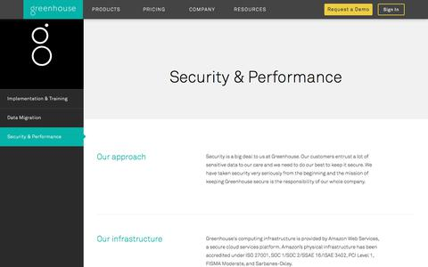 Greenhouse Software Security & Performance | Greenhouse