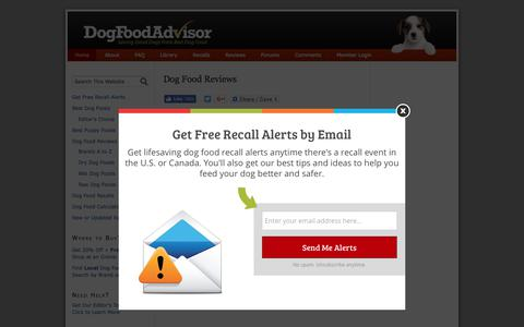 Screenshot of Home Page dogfoodadvisor.com - Dog Food Reviews and Ratings | Dog Food Advisor - captured June 10, 2017
