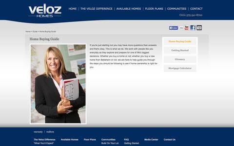 Screenshot of FAQ Page velozhomes.com - Home Buying Guide | Veloz Homes - captured Oct. 26, 2014