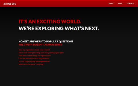 Screenshot of Home Page louddog.com - Loud Dog | Digital Brand Agency - captured Oct. 3, 2014