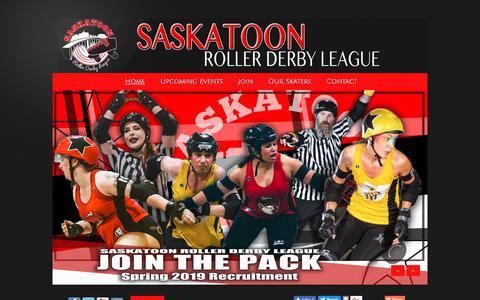Screenshot of Home Page saskatoonrollerderby.com - Saskatoon Roller Derby League - captured Nov. 28, 2018