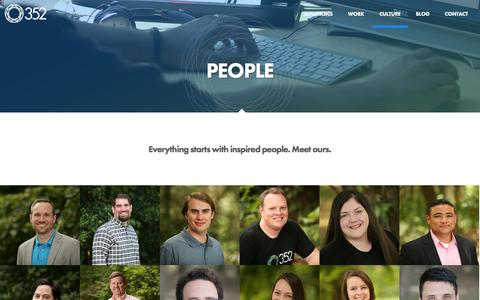 Screenshot of Team Page 352inc.com - Our People - 352 Inc. - captured Oct. 27, 2014