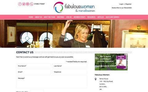 Screenshot of Contact Page fabulous-women.co.uk - Contact Us | Fabulous Women - captured Aug. 12, 2018