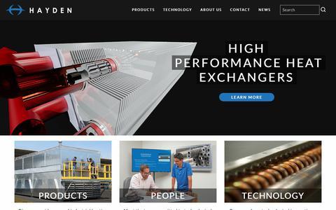 Screenshot of Home Page haydenindustrial.com - Hayden - captured July 23, 2017