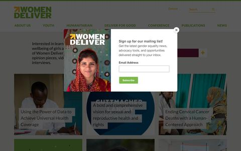 Screenshot of Blog womendeliver.org - Blog – Women Deliver - captured Sept. 21, 2018