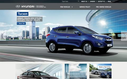 Screenshot of Home Page 1stmotors.com - First Motors | Hyundai Bahrain - captured Sept. 8, 2015