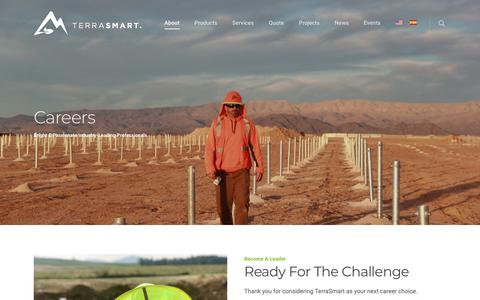 Screenshot of Jobs Page terrasmart.com - Careers at TerraSmart - captured Oct. 20, 2018