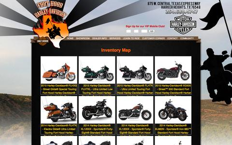 Screenshot of Site Map Page forthoodhd.com - Inventorymap   Fort Hood Harley-Davidson®   Harker Heights Texas - captured Oct. 27, 2014
