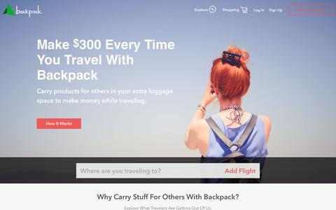 Backpack | Best way to get stuff from around the world