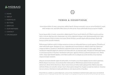 Screenshot of Terms Page mosaic-av.com - Terms & Conditions - Mosaic Audio & Visual Ltd - captured Oct. 19, 2018