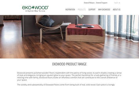 Screenshot of Products Page ekowood.com - Ekowood Product Range • Ekowood - captured Dec. 14, 2018
