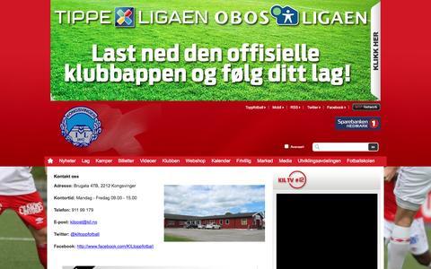 Screenshot of Contact Page kil.no - Kontakt  oss  | Kongsvinger - captured Feb. 12, 2016