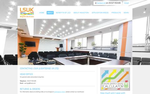 Screenshot of Contact Page lsuk.com - LSUK Contact Us | Manufacturer and supplier of high quality commercial LED and induction lighting. - captured Oct. 2, 2014