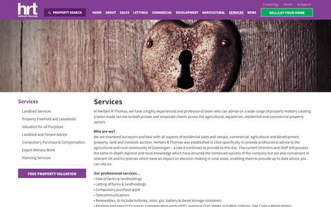 Screenshot of Services Page hrt.uk.com - Services | HRT - Herbert R Thomas Estate Agents - captured Aug. 4, 2017