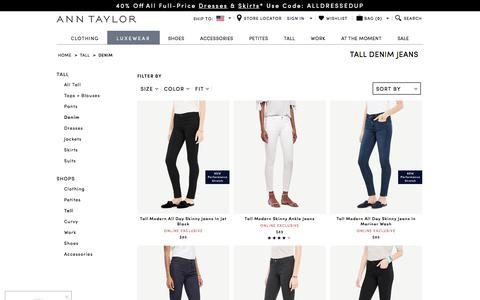 Women's Tall Denim Jeans | ANN TAYLOR