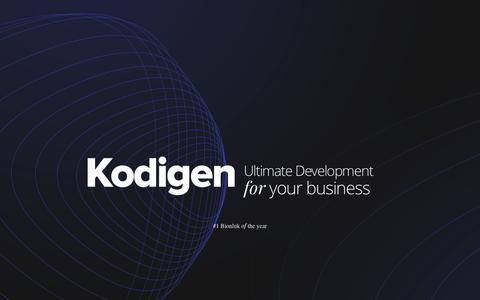 Screenshot of Home Page kodigen.com - Kodigen : Ultimate Development for your business - captured Nov. 1, 2018