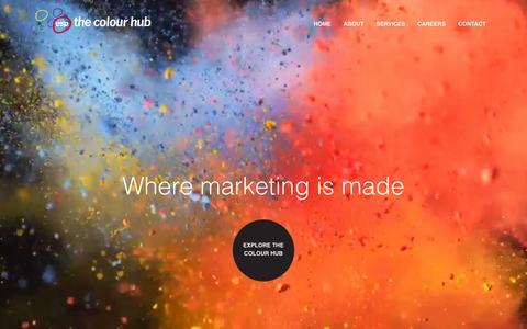 Screenshot of Home Page thecolourhub.com - Bravedog : We're a design agency - captured Oct. 10, 2015