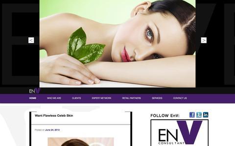 Screenshot of Home Page envconsultant.com - EN V Consultant   PR & Premier Brand Representation - captured Oct. 1, 2014