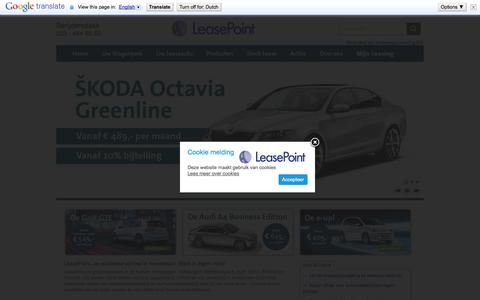 Screenshot of Home Page leasepoint.nl - Home » LeasePoint Amsterdam - captured Jan. 27, 2015