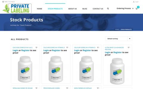 Stock Products Archives - Private Label Supplements and Vitamins