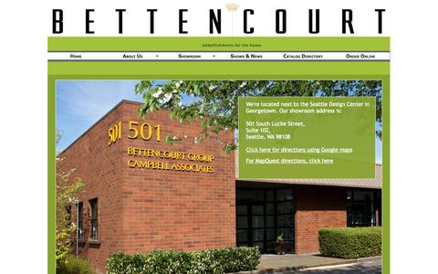 Screenshot of Maps & Directions Page bettencourtgroup.com - Bettencourt Group ° Directions - captured Sept. 30, 2014