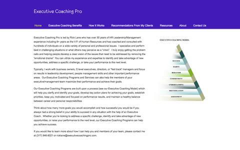 Screenshot of Home Page executivecoachingpro.com - Achieve Success with Executive Coaching Pro! - captured July 24, 2018