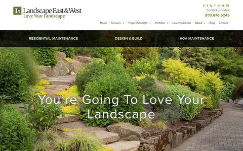 Screenshot of About Page landscapeeast.com - About Us - captured Sept. 27, 2018