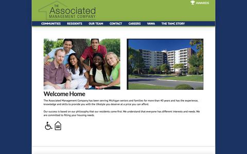 Screenshot of Home Page associated-management.com - The Associated Management Company | Luxury Living at Affordable Prices Michigan - captured Oct. 18, 2018