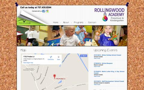 Screenshot of Maps & Directions Page rollingwoodacademy.com - Map - Rollingwood Academy Preschool and Kindergarten - captured Jan. 13, 2016