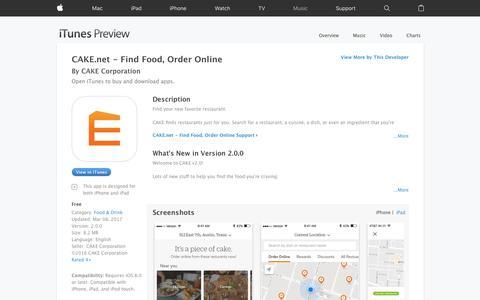 CAKE.net - Find Food, Order Online on the App Store