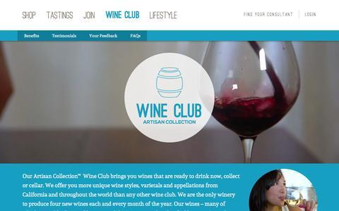 Screenshot of Testimonials Page wineshopathome.com - Wine Club - WineShop At Home - captured Jan. 11, 2016