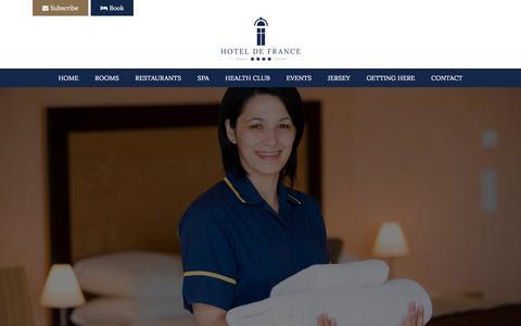 Screenshot of Jobs Page defrance.co.uk - Careers - Hotel de France, Jersey Channel Islands - captured July 6, 2018