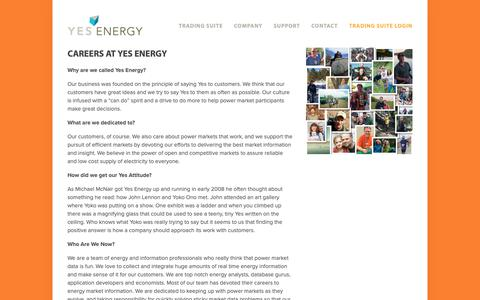 Screenshot of Jobs Page yesenergy.com - Careers — Yes Energy - captured Dec. 11, 2018